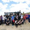Los alumnos del I.E.S. Arzobispo Lozano realizan una actividad de escalada en el Barranco del Marqués