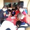 Los alumnos de 1º ESO del Arzobispo Lozano visitan las pinturas rupestres de Minateda