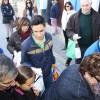 800 kilos de patatas, 200 camisetas y productos de alimentación para Cáritas Jumilla, recogidos por los colectivos del Edificio Azul