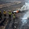 Efectivos del Plan Infomur sofocan un incendio de matorral en la carretera de Murcia