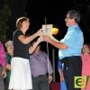 La alcaldesa, Juana Guardiola, lanzó el tradicional chupinazo de San Fermín