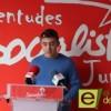 Primera comparecencia en rueda de prensa del nuevo secretario de Juventudes Socialistas, Aitor Méndez Bernal