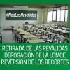 La comunidad educativa convoca una huelga nacional este miércoles, contra la LOMCE y sus reválidas