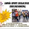 Fase Municipal de Cross Deporte Escolar en el Circuito Urbano del Bº San Antón.