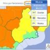 Alertas amarilla por lluvia, viento y nieve para hoy lunes