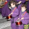 Los redobles de la  Asociación de Tambores 'Cristo de la sangre' anunciaron la Resurrección de Cristo