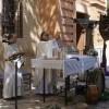 La Asociación de Tambores Cristo de la Sangre celebra la misa en honor a su imagen titular en el Monasterio de Santa Ana