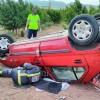 Sanitarios no han podido salvar a un hombre que ha muerto al chocar turismo con un camión en Jumilla