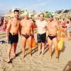 Miembros del Club Natación Jumilla presentes en las playas de Mazarrón para disputar el Desafío SeaMan