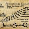 Jumilla Brass Quintet ameniza la misa en honor a Santa Cecilia en Santa Ana