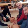 Profesores del IES Arzobispo Lozano realizan un curso de reanimación cardiopulmonar