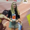 Ángela Carrión recibe el reconocimiento del atletismo murciano en la VI Gala del Atletismo de la Región de Murcia.