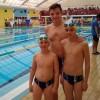 Los nadadores del Club Natación Jumilla, Marcos Guardiola, Justo Marín y Luis Tomás presentes en la última jornada de la Liga Regional
