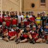 33 ciclistas del Club Jumilla MTB y la Cofradía del Santo Costado participaron en la Ruta Jumilla-Xátiva
