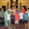 Recibidos en el salón de plenos los cinco niños saharauis acogidos este verano en Jumilla