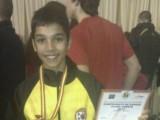 El joven jumillano José Tomás Bernal consigue una medalla de bronce en el Campeonato de España de Taekwondo