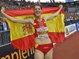 La deportista nacional Ruth Beitia llega hoy a Jumilla