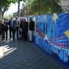 Un grafiti de 80 metros cuadrados, conmemora los 30 años de España en la Unión Europea