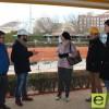 La alcaldesa de Jumilla junto con los concejales de Obras y Deportes visitan las obras de la Piscina Olímpica