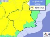 Hoy miércoles de nuevo la AEMET activa el aviso amarillo por tormentas en el Altiplano
