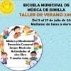 Mañana viernes termina el Taller de Verano de la Escuela Municipal de Música con un concierto