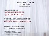 La Asociación Musical Julián Santos te invita a todas las actividades y conciertos que han preparado esta Navidad