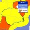 AEMET activa el aviso naranja en el Altiplano por fuertes vientos