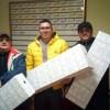 Tres palomos empatados en el primer puesto del Concurso de Navidad de la Fuente del Pino