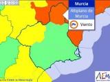 AEMET activa en el Altiplano el aviso naranja para el miércoles por fuertes vientos
