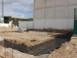 En marcha las obras del rocódromo y del cambio de iluminación del Polideportivo La Hoya