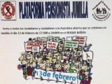 La Plataforma de Pensionistas van a celebrar una Asamblea Abierta para todos los ciudadanos