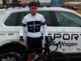El ciclista jumillano Francisco Javier Pérez (Gori) consigue subir al pódium en su categoría en una etapa de la Vuelta a Murcia Máster