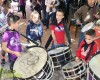 Misa, procesión y comida para terminar la Semana Santa en la Asociación de Tambores Cristo de la Sangre