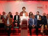 Juana Guardiola presenta la lista que conforma la candidatura socialista para las próximas elecciones municipales arropada por Diego Conesa