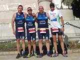 Juan Tomás, Antonio Oma, Francisco José Díaz y José Carrión con buenas sensaciones en el Triatlón SERTRI de Cartagena