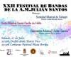 Unión Musical Santa Cecilia de Hellín, la Sociedad Musical de Cehegín y la banda anfitriona conforman el cartel del XXII Festival Nacional de Bandas de la Asociación Musical Julián Santos