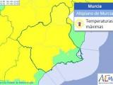 AEMET activa el aviso amarillo para hoy martes por altas temperaturas