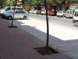 Finaliza la primera fase de renovación de aceras y aparcamiento de la acera sur de avenida de Levante