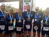 Carrión, Tomás, Oma, Pérez, Hammond y Chivani acudieron a la cita con el Triatlón de Agramón