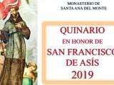 La Comunidad Franciscana celebra el Quinario en honor a San Francisco de Asís