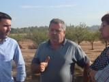El consejero de Agricultura Antonio Luengo visita Jumilla para comprobar in situ los daños de la gota fría de la pasada semana