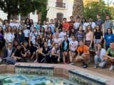 Un grupo de alumnos de 4º ESO del IES Infanta Elena reciben a sus compañeros de intercambio eslovacos