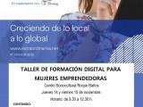 Empleo programa un taller de marketing digital para mujeres emprendedoras