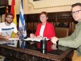 Firmado convenio de 25.000 euros entre Ayuntamiento y Federación de Peñas de la Fiesta de la Vendimia