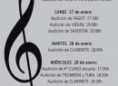 """El Conservatorio Profesional de Música """"Julián Santos"""" de Jumilla y los alumnos de 4º de la Escuela celebran sus audiciones de enero"""