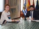 La alcaldesa repasa con el presidente de la CARM distintos asuntos del municipio