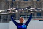 Entrevista a Pascual Burruezo del 'Club Triatlon Jumilla' tras completar una etapa del Camino de Santiago en bici