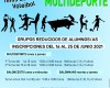 La Concejalía de Deportes abre el plazo de inscripciones para las Escuelas Polideportivas que se imparten durante el mes de julio