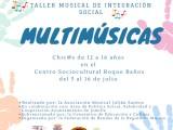 Se ha abierto el plazo de inscripciones para participar en el Taller Musical de Integración Social que va a impartir la Asociación Musical Julián Santos del 5 al 16 de julio