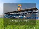 Se abre el plazo de solicitud de subvenciones destinadas a la realización de actividades deportivas